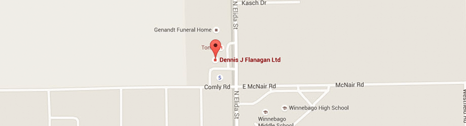 Map Dennis J Flanagan DDS MS Rockford and Winnebago IL