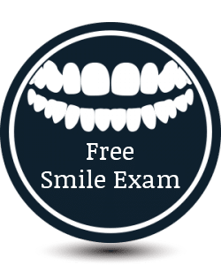 Free Smile Exam Button Dennis J Flanagan DDS MS Rockford and Winnebago IL